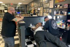 A client getting tattooed!